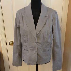 Halogen Grey Pink Striped Jacket